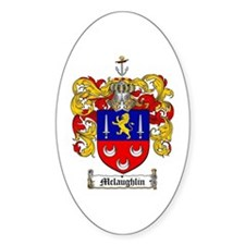 McLaughlin Family Crest Oval Decal