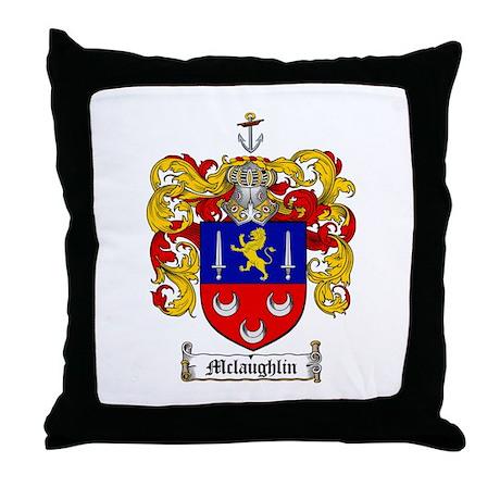 McLaughlin Family Crest Throw Pillow