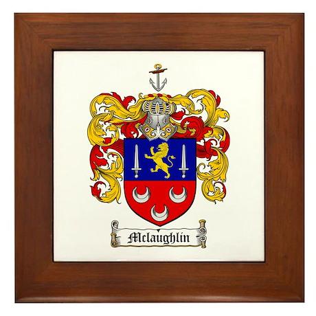 McLaughlin Family Crest Framed Tile