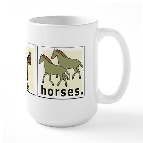 I RIde Horses Large Mug