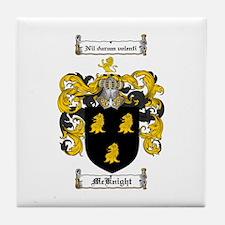 McKnight Family Crest Tile Coaster