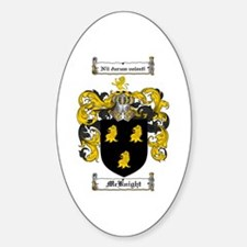 McKnight Family Crest Oval Decal