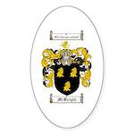 McKnight Family Crest Oval Sticker