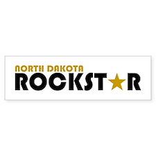 North Dakota Rockstar Bumper Bumper Sticker