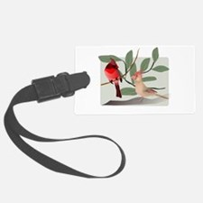 Cardinal Couple on Cut Out Tree Luggage Tag