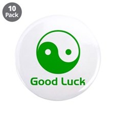 """good luck 3.5"""" Button (10 pack)"""