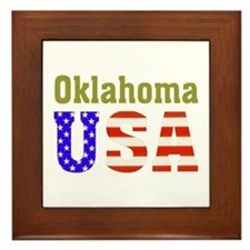 Oklahoma USA Framed Tile