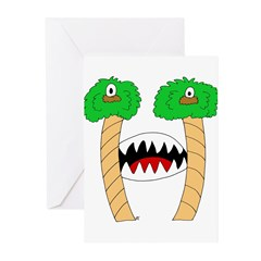 Monster Letter H Greeting Cards (Pk of 20)