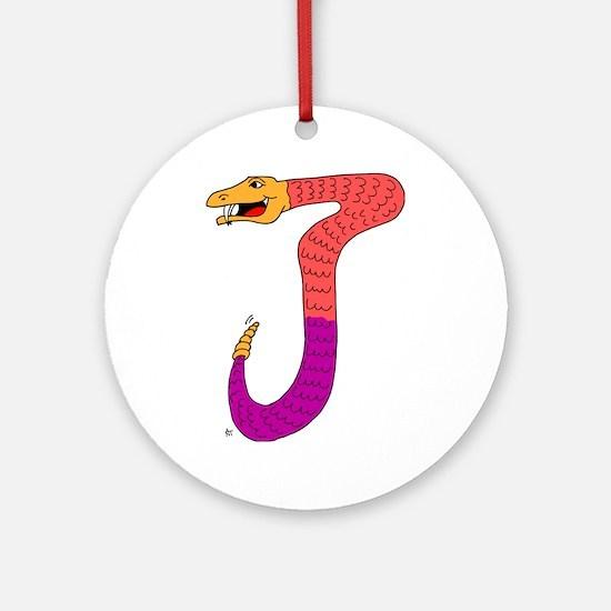 Monster Letter J Ornament (Round)
