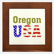 Oregon USA Framed Tile