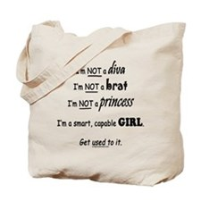 Cute Girl power Tote Bag
