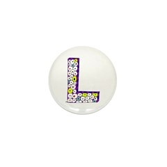 Monster Letter L Mini Button (100 pack)