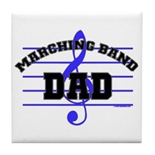 Marching Band Dad Tile Coaster