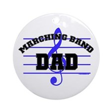 Marching Band Dad Ornament (Round)