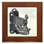 Anderson Camera Quote Framed Tile