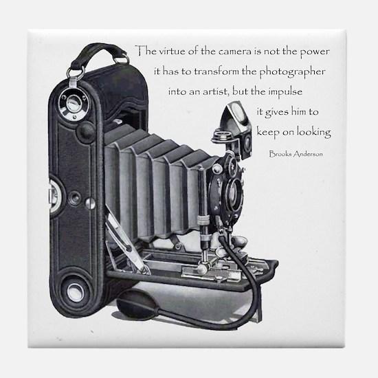 Anderson Camera Quote Tile Coaster