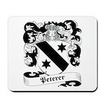 Peterer Family Crest Mousepad