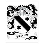 Peterer Family Crest Small Poster