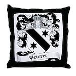 Peterer Family Crest Throw Pillow