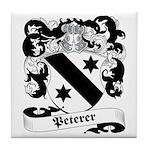 Peterer Family Crest Tile Coaster