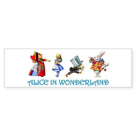 Alice in Wonderland Sticker (Bumper)