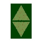 Arboreal Triangle Knot Rectangle Sticker 10 pk)