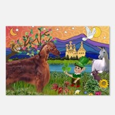 Irish Elf & Irish Setter Postcards (Package of 8)