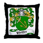 Pfeiffer Family Crest Throw Pillow