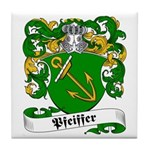 Pfeiffer Family Crest Tile Coaster