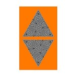 Charcoal Triangle Knot Rectangle Sticker 50 pk)
