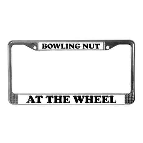 Bowling Nut License Plate Frame
