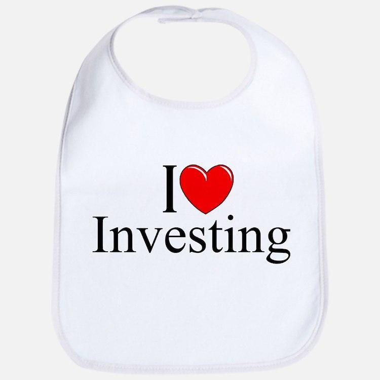 """I Love (Heart) Investing"" Bib"
