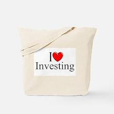 """I Love (Heart) Investing"" Tote Bag"
