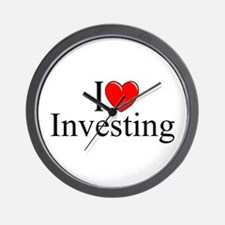 """I Love (Heart) Investing"" Wall Clock"