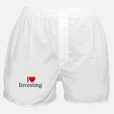 """I Love (Heart) Investing"" Boxer Shorts"