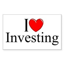 """""""I Love (Heart) Investing"""" Rectangle Decal"""