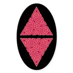 Pink Triangle Knot Oval Sticker (10 pk)