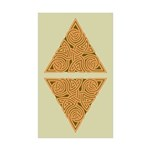 Rustic Triangle Knot Rectangle Sticker 50 pk)