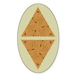 Rustic Triangle Knot Oval Sticker (50 pk)