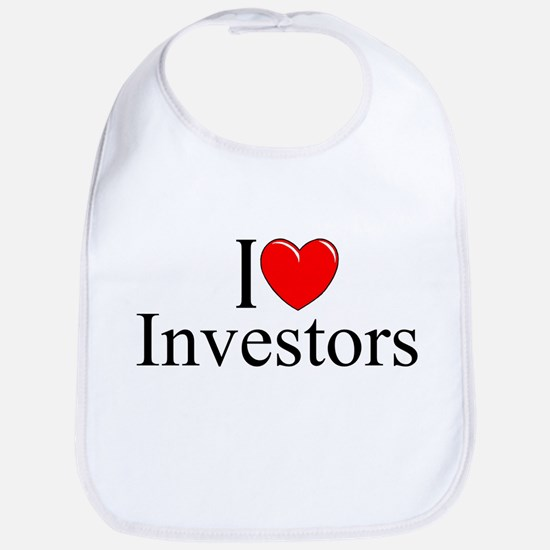 """I Love (Heart) Investors"" Bib"