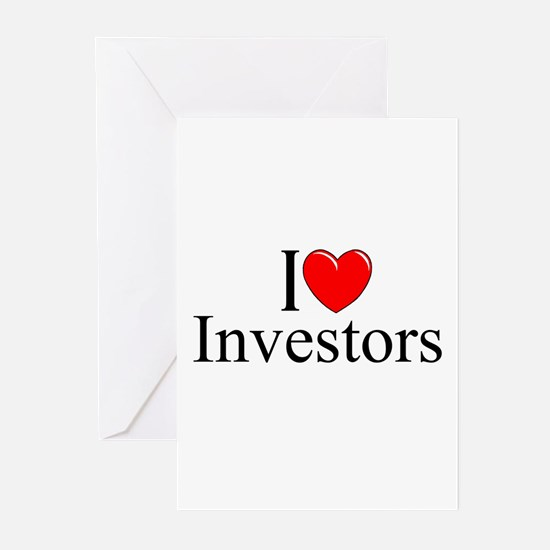 """I Love (Heart) Investors"" Greeting Cards (Pk of 1"