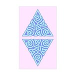 Serene Triangle Knot Rectangle Sticker 50 pk)