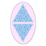 Serene Triangle Knot Oval Sticker (10 pk)