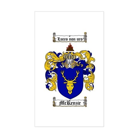 McKenzie Family Crest Rectangle Sticker