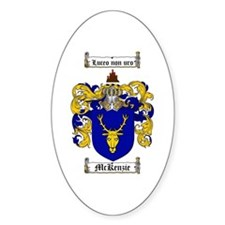 McKenzie Family Crest Oval Decal