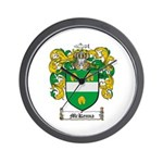 McKenna Family Crest Wall Clock