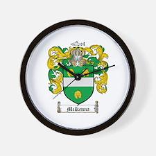 McKenna Family Crest Wall Clock