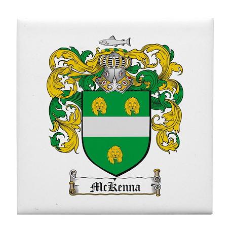 McKenna Family Crest Tile Coaster