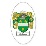 McKenna Family Crest Oval Sticker
