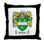 McKenna Family Crest Throw Pillow